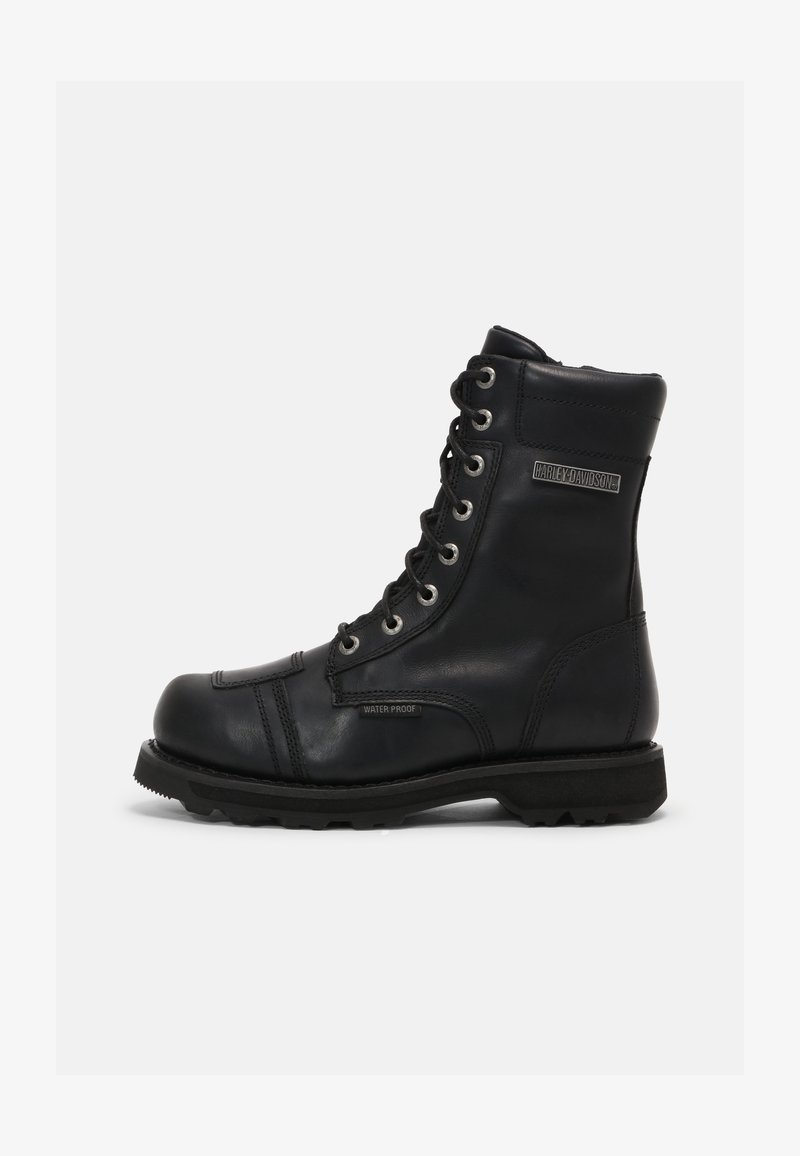 Harley Davidson - EDGERTON - Lace-up ankle boots - black