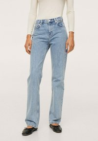Mango - Straight leg jeans - light blue - 0