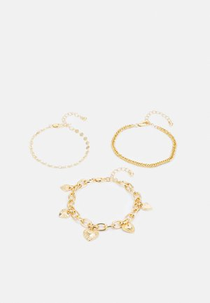 PCSEMANTHA BRACELET 3 PACK - Bracelet - gold-coloured