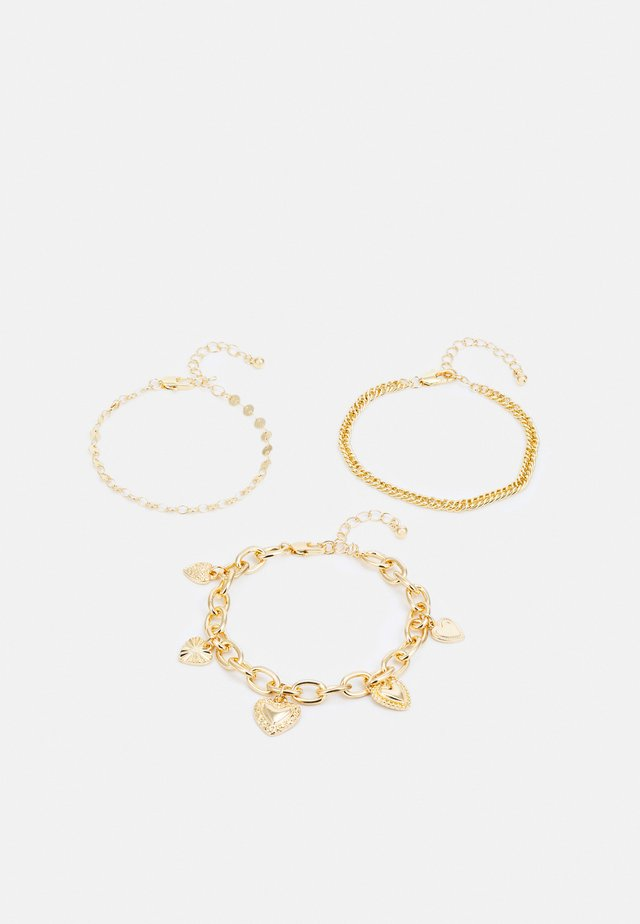 PCSEMANTHA BRACELET 3 PACK - Armbånd - gold-coloured