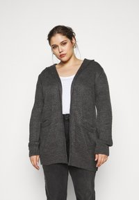 Anna Field Curvy - Cardigan - mottled dark grey - 0