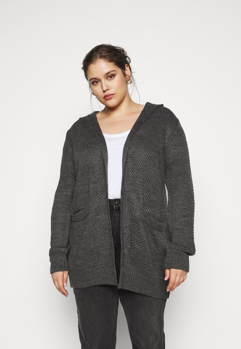 Anna Field Curvy - Cardigan - mottled dark grey