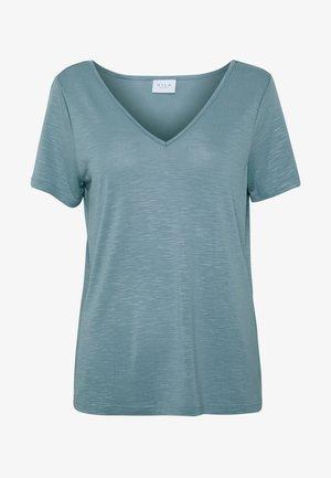 VINOEL  - Basic T-shirt - ashley blue