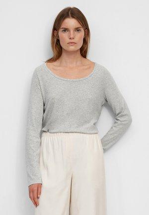 Long sleeved top - stony grey melange