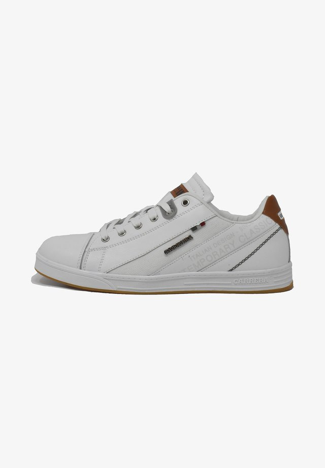 UNDER MIX  - Sneakers basse - white-cuoio