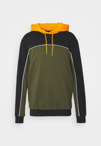 COLOUR BLOCK HOODIE - Sweatshirt - black mix