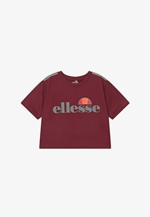LISSARO CROPPED PERFORMANCE TEE - T-shirt imprimé - burgundy