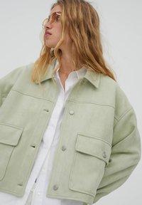 PULL&BEAR - Light jacket - light green - 4