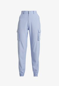 Missguided - CHECK CARGO TROUSER - Trousers - blue - 3
