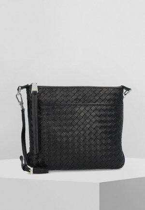 PIUMA WEAVING  - Handbag - black/nickel