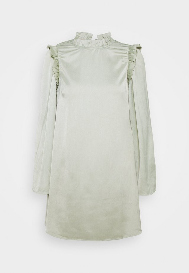 FAUNA DRESS - Korte jurk - sage green
