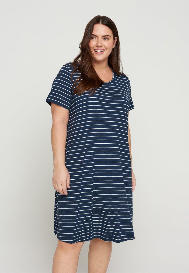 Zizzi - VFREJA DRESS - Jersey dress - mood indigo