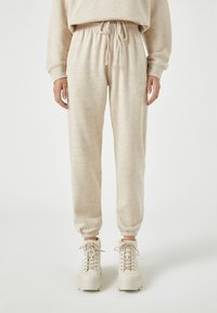 PULL&BEAR - Tracksuit bottoms - beige - 0