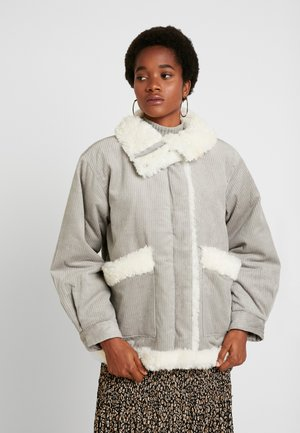 ELLEN CHECK SHACKET - Winter jacket - grey
