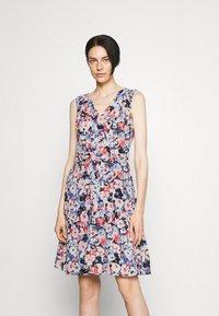 Lauren Ralph Lauren - ELNA SLEEVELESS DAY DRESS - Day dress - light navy/pink/multi - 0