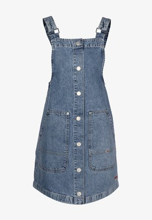 DUNGAREE SNAP - Denim dress - marcia mid blue rigid