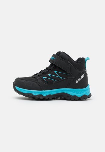 TRAIL EXPLORER MID UNISEX - Hiking shoes - black/aqua