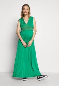 LOVE2WAIT - NURSING CROCHET - Maxi šaty - green - 1