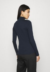 Marc O'Polo DENIM - LONGSLEEVE WITH ZIPPER SPECIAL COLLAR - Long sleeved top - scandinavian blue - 2
