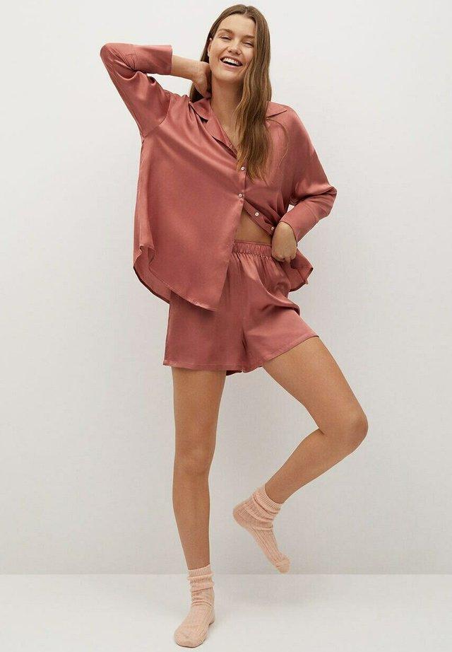 SATINI - Pyjamashirt - brent oransje