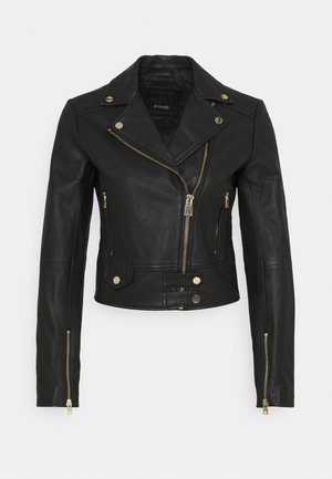 SENSIBILE CHIODO - Leather jacket - black