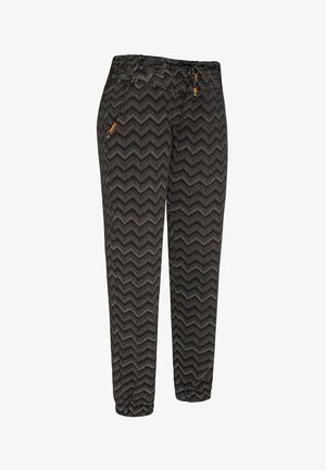 TALIN CHEVRON - Trousers - black