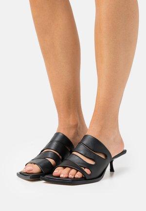 JOAN  - Heeled mules - black