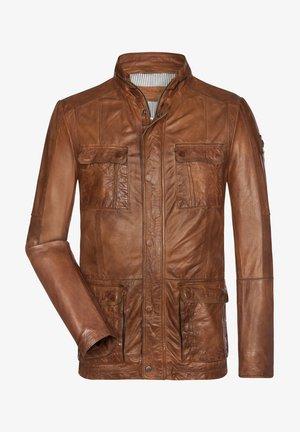 YAGORO - Leather jacket - cognac