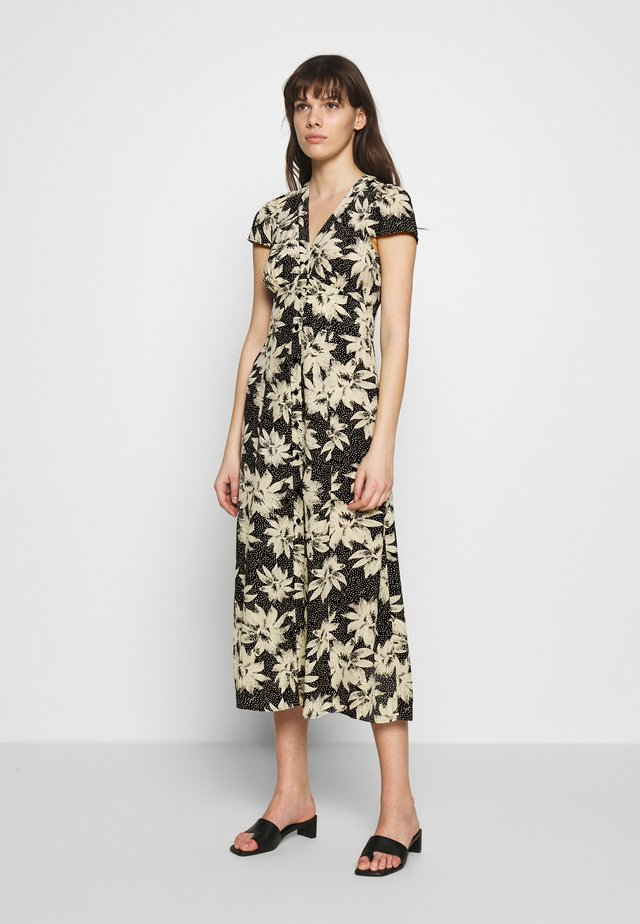 STARBURST FLORAL PRINT DRESS - Denní šaty - black