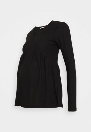 MLCILLE SOLID - Long sleeved top - black
