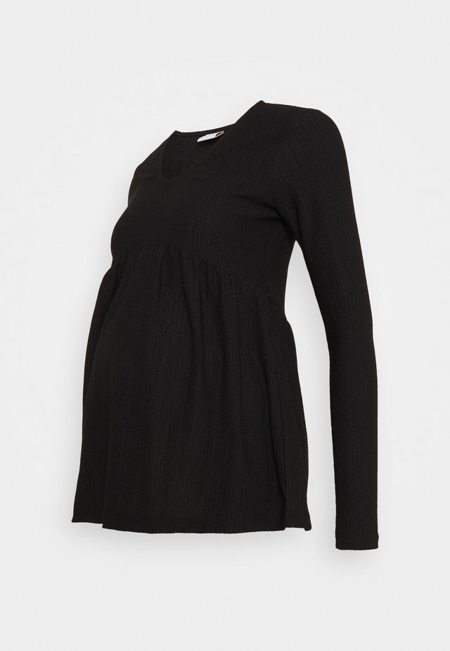 MLCILLE SOLID - Maglietta a manica lunga - black