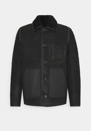 JACKET - Veste en cuir - black