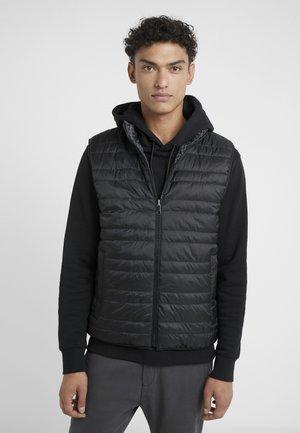 REVERSIBLE PRINT VEST - Waistcoat - black