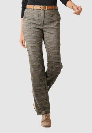 Trousers - dunkelbraun ockergelb schwarz