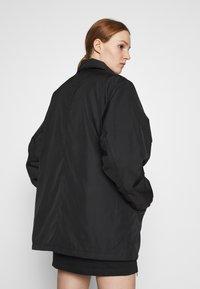Weekday - BYRON COACH JACKET - Short coat - black - 4