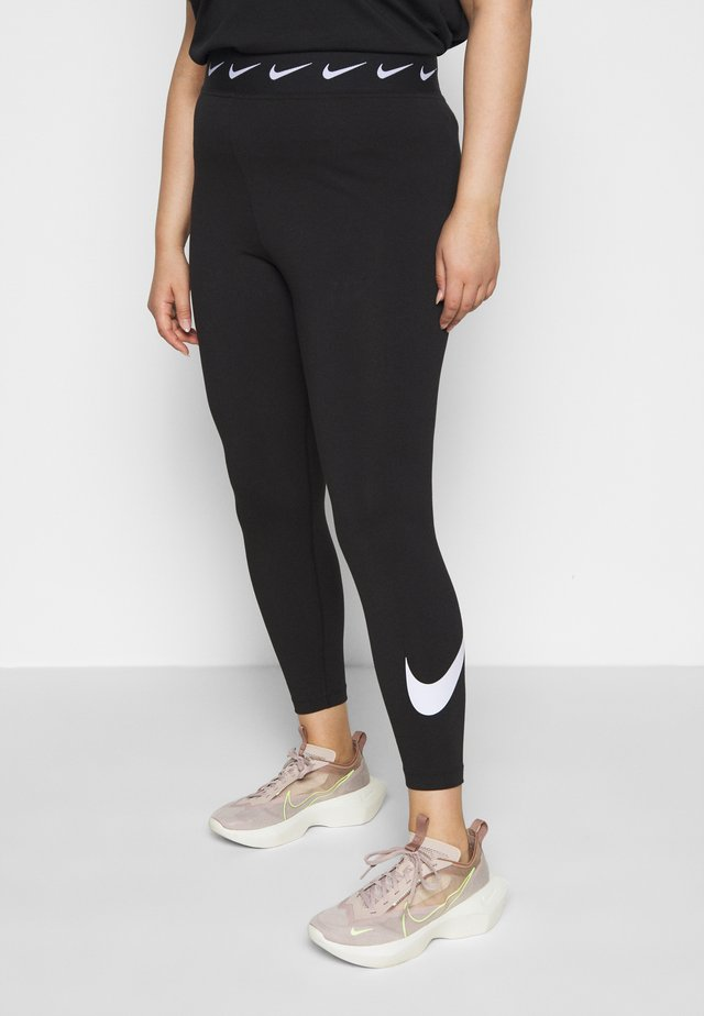 CLUB PLUS - Legging - black/white