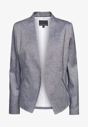 COLLARLESS SOLID - Blazer - navy