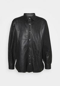 Trussardi - PANELLED ORION SHINY - Košile - black - 0