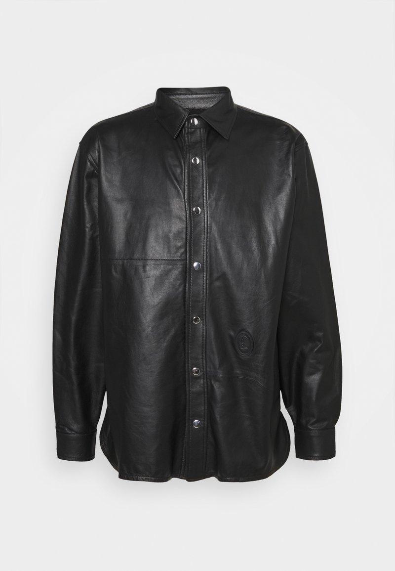 Trussardi - PANELLED ORION SHINY - Košile - black