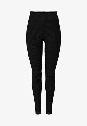 PCMRIBBI - Leggings - Trousers - black