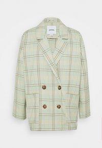 Krátký kabát - green/grey