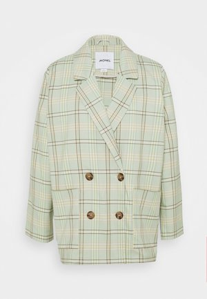 TWIGGY - Short coat - green/grey