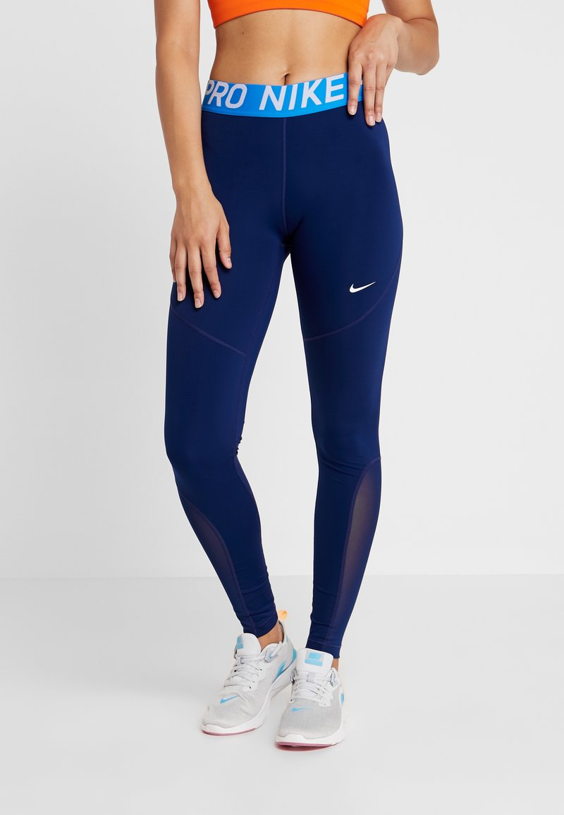 Nike Performance - Legging - black/blue void