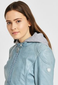 Gipsy - AELLY LAMAS - Leather jacket - light blue - 4
