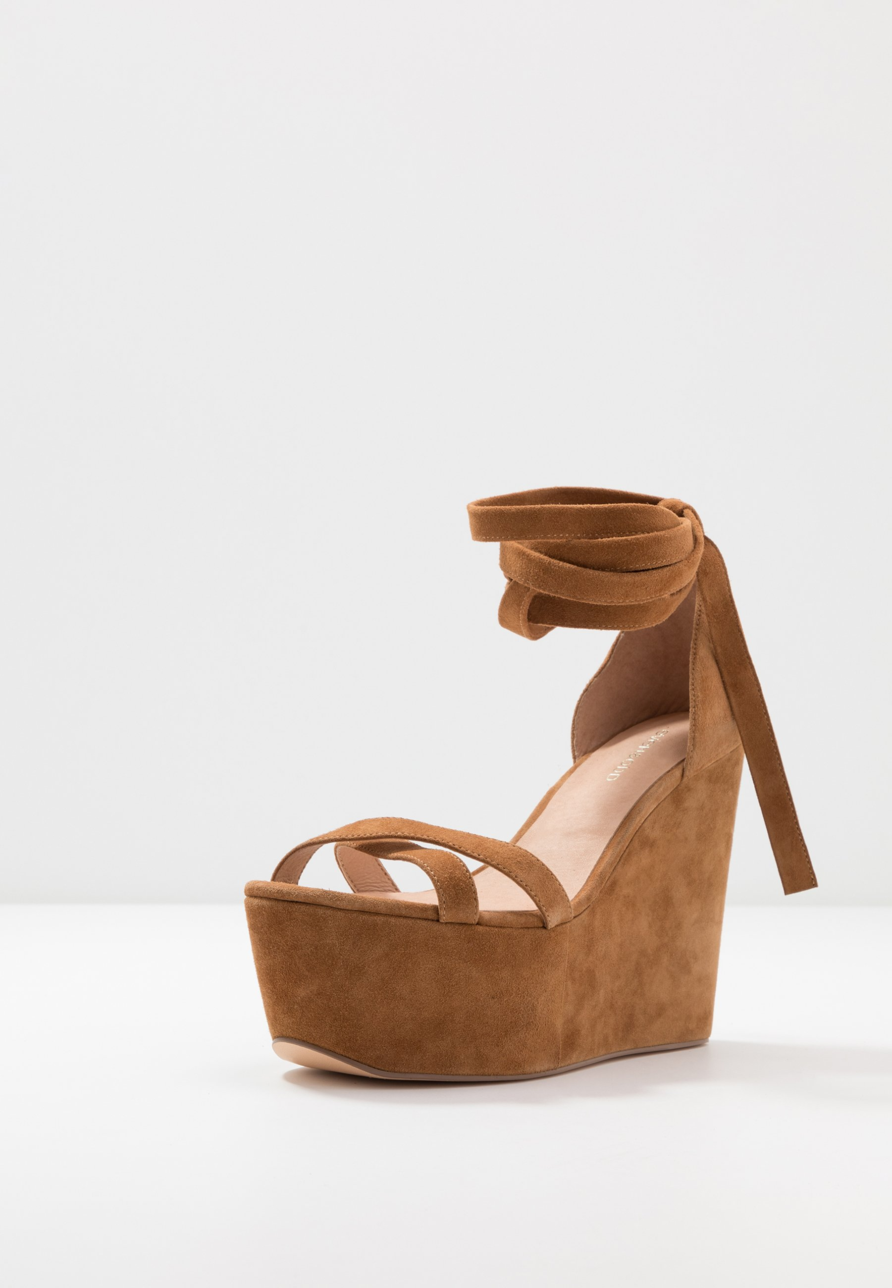 Even&Odd LEATHER High Heel Sandalette cognac/cognac