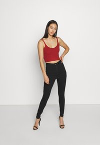 Missguided - VICE HIGH WAISTED - Jeans Skinny Fit - black - 1