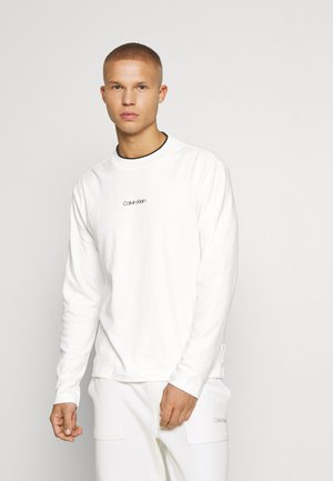 CENTER LOGO LONG SLEEVE - Maglietta a manica lunga - bright white