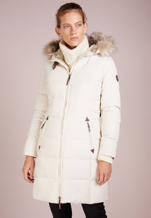 HAND TRIM  - Down coat - moda cream