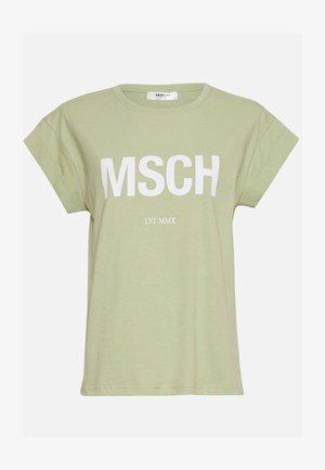 ALVA MSCH STD SEASONAL - T-shirts med print - reseda/white