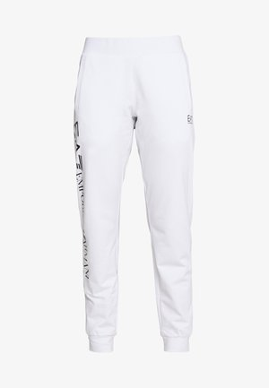 TROUSER - Tracksuit bottoms - white/navy